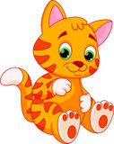 Desenhos animados engraçados do gato ilustração stock