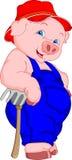 Desenhos animados engraçados do porco Imagens de Stock Royalty Free