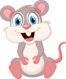 Desenhos animados engraçados do rato ilustração do vetor