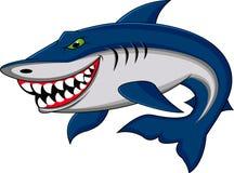 Desenhos animados engraçados do tubarão Fotos de Stock