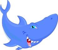 Desenhos animados engraçados do tubarão Fotos de Stock Royalty Free