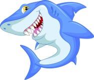 Desenhos animados engraçados do tubarão Foto de Stock