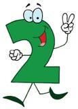 Desenhos animados engraçados Numbers-2 ilustração do vetor