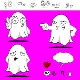 Desenhos animados engraçados set0 de Ghost Fotografia de Stock Royalty Free