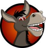Desenhos animados engraçados da cabeça do asno Imagem de Stock Royalty Free