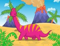Desenhos animados engraçados do dinossauro Fotos de Stock Royalty Free