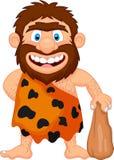 Desenhos animados engraçados do homem das cavernas Imagens de Stock