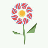 Desenhos animados fabulosos da flor abstrata ilustração stock
