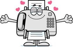 Desenhos animados Fax Machine Hug ilustração do vetor