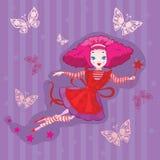 Desenhos animados feericamente bonitos   Imagens de Stock Royalty Free