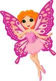 Desenhos animados feericamente cor-de-rosa bonitos Fotografia de Stock