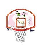 Desenhos animados felizes da aro de basquetebol Imagens de Stock Royalty Free