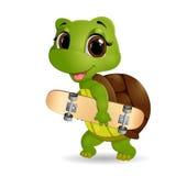 Desenhos animados felizes da tartaruga Imagens de Stock