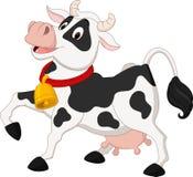 Desenhos animados felizes da vaca Foto de Stock