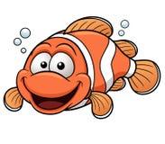 Desenhos animados felizes de Clownfish Imagem de Stock
