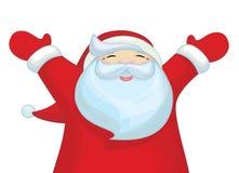 Desenhos animados felizes de Santa Claus do vetor isolados Fotografia de Stock Royalty Free