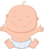 Desenhos animados felizes do bebê Imagem de Stock Royalty Free
