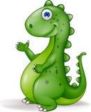Desenhos animados felizes do dinossauro ilustração stock