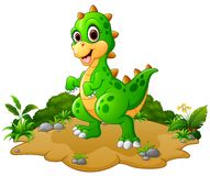 Desenhos animados felizes do dinossauro Imagem de Stock