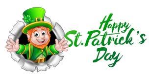 Desenhos animados felizes do duende do dia do St Patricks ilustração do vetor