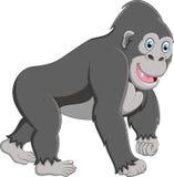 Desenhos animados felizes do gorila Fotografia de Stock Royalty Free