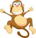 Desenhos animados felizes do macaco Fotos de Stock