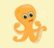 Desenhos animados felizes do polvo Imagem de Stock Royalty Free