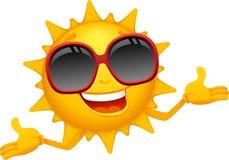 Desenhos animados felizes do sol Foto de Stock