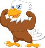 Desenhos animados fortes da águia Fotos de Stock Royalty Free