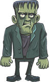 Desenhos animados Frankenstein verde Fotografia de Stock