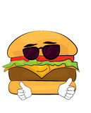 Desenhos animados frescos do hamburguer Fotos de Stock