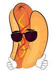 Desenhos animados frescos do hotdog Fotografia de Stock