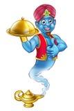 Desenhos animados Genie Serving Food ilustração stock