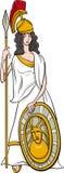 Desenhos animados gregos de athena da deusa ilustração royalty free