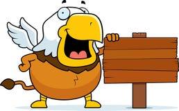 Desenhos animados Griffin Sign fotos de stock royalty free