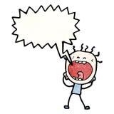 desenhos animados gritando do homem Fotografia de Stock