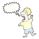desenhos animados gritando do homem Imagens de Stock