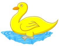 Desenhos animados handdrawn do pato engraçado isolados Imagens de Stock