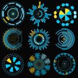 Desenhos animados HUD Futuristic Element Set Vetor ilustração royalty free