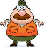 Desenhos animados Hunter Mustache ilustração do vetor