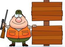 Desenhos animados Hunter Sign Imagens de Stock