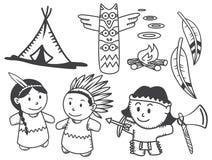 Desenhos animados indianos ilustração stock