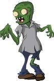 Desenhos animados inoperantes de passeio dos povos do zombi engraçados Fotos de Stock