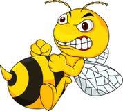 Desenhos animados irritados da abelha Imagens de Stock Royalty Free
