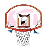 Desenhos animados irritados da aro de basquetebol Fotos de Stock Royalty Free