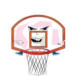 Desenhos animados irritados da aro de basquetebol Fotos de Stock