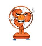 Desenhos animados irritados do fã de tabela Fotografia de Stock Royalty Free