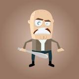 Desenhos animados irritados do hooligan Imagem de Stock