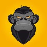 Desenhos animados irritados do macaco Foto de Stock Royalty Free