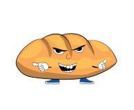 Desenhos animados irritados do pão Fotografia de Stock Royalty Free